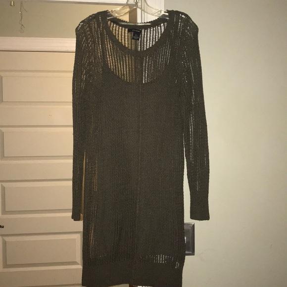 926df62aa29 Open knit Dkny sweater dress